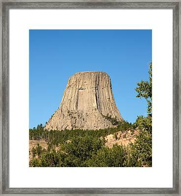 Devils Tower Framed Print by John M Bailey
