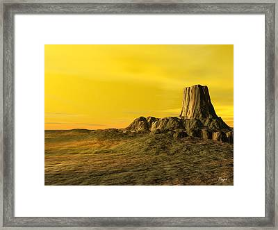 Devils Tower Framed Print by John Pangia