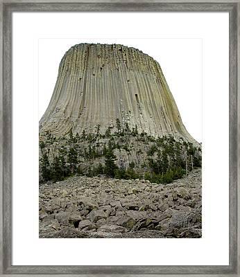 Devils Tower National Monument 2 Framed Print by Elizabeth Sullivan