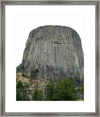 Devils Tower National Monument Framed Print by Elizabeth Sullivan
