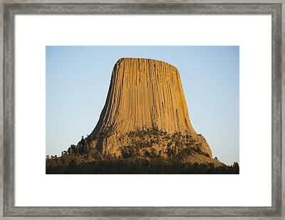 Devils Tower National Monument Wyoming Framed Print by Kevin Schafer