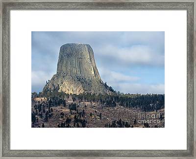 Devil's Tower - Wyoming Framed Print by Sandra Bronstein