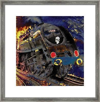 Devil's Train Framed Print by Pennie  McCracken