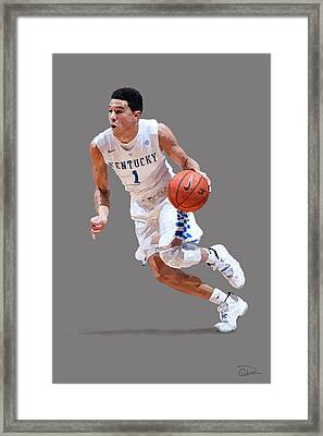 Devin Booker Framed Print by Charley Pallos