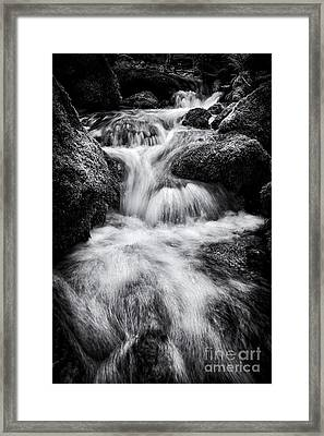 Devon River Monochrome Framed Print by Tim Gainey