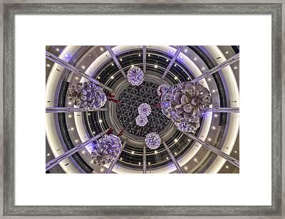 Devon Symmetric Pinecones Framed Print
