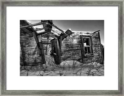 devon township abandonment 01 Pardee Road Framed Print