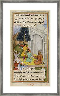 Devotee Helping The King Framed Print by British Library