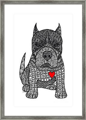 Devotion- American Pitbull Terrier Framed Print