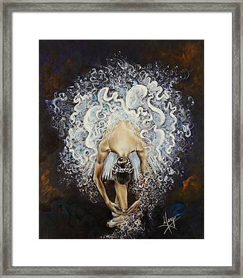 Devotion Framed Print by Karina Llergo