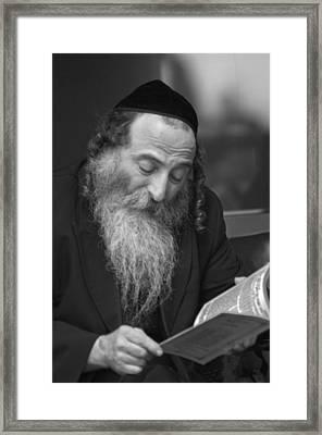 Devout Jew At Prayer Framed Print