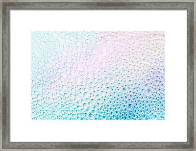 Dew Background Framed Print by Mythja  Photography