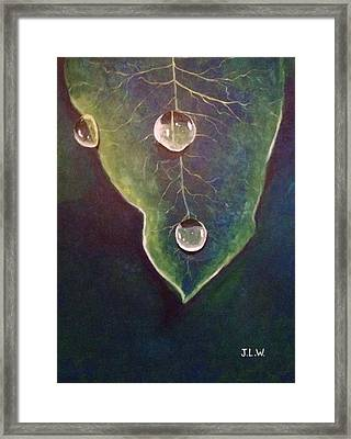Framed Print featuring the painting Dew Drops by Justin Lee Williams