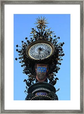 Dewailly Clock - Amiens - France Framed Print