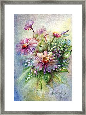 Dewdrop Daisies Framed Print