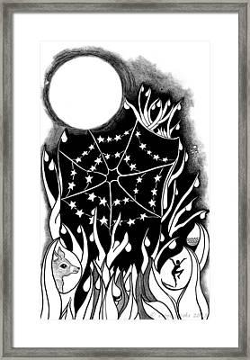 Framed Print featuring the digital art Dewdrop Stars by Carol Jacobs