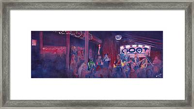 Dewey Paul Band At The Goat Nye Framed Print by David Sockrider