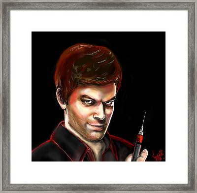 Dexter By Design Framed Print by Vinny John Usuriello