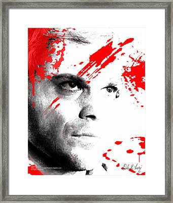 Framed Print featuring the digital art Dexter Dreaming by Dale Loos Jr