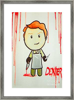 Dexter Framed Print by Marisela Mungia