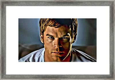 Dexter Portrait Framed Print