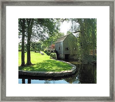 Dexters Grist Mill Framed Print