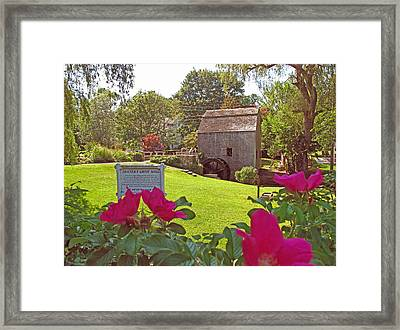 Dexters Grist Mill Two Framed Print by Barbara McDevitt