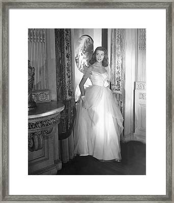 Deyanne O'neil Farrell Wearing A Dress Framed Print