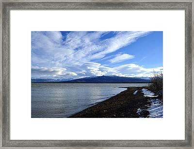Dezadeash Lake Framed Print by Cathy Mahnke