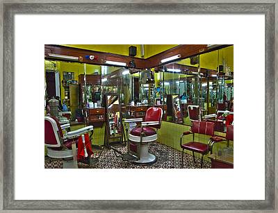 Df Barbershop Framed Print by John  Bartosik