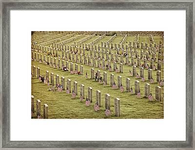Dfw National Cemetery II Framed Print by Joan Carroll