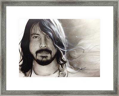 David Grohl - ' D. G. ' Framed Print by Christian Chapman Art