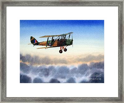 Dh-82 Tiger Moth Framed Print by Bill Holkham