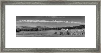 Dh Day Farm In Black And White Framed Print