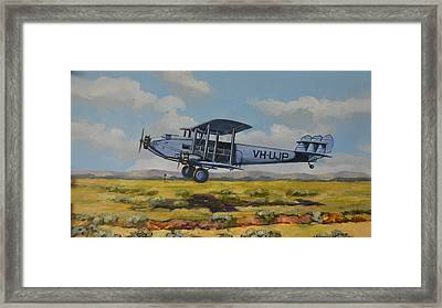 Framed Print featuring the painting Dh Hercules 1929 by Murray McLeod
