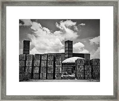 D'hanis Brick Factory Framed Print by Wendy J St Christopher