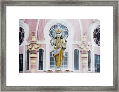 Dhanvantari Fountain Statue Puttaparthi India Framed Print