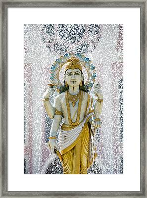 Dhanvantari Fountain Statue Puttaparthi Framed Print