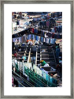 Dhobi Ghat Open-air Laundry Framed Print by Mark Williamson