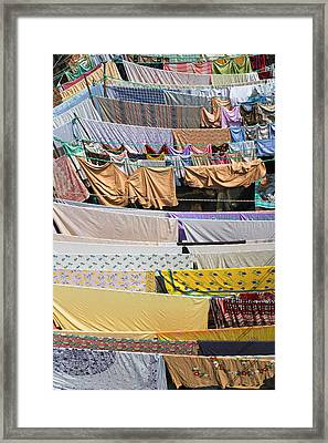 Dhobi Ghat, The World's Largest Outdoor Framed Print by Keren Su