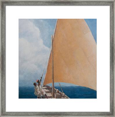 Dhow Kilifi Framed Print by Lincoln Seligman