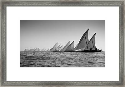 Dhow Race Start Framed Print by Chris Cameron