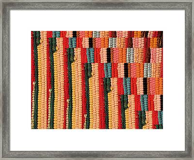 Dhurri Rug Abstracted Framed Print by Gerry Bates