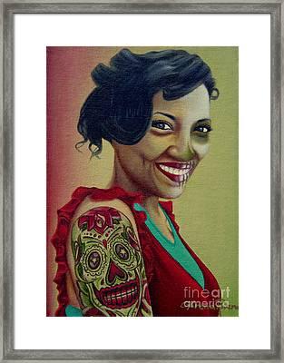 Dia De Las Muertas Framed Print by Lorena Rivera