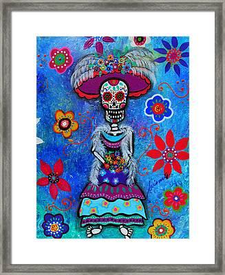 Dia De Los Muertos Catrina Framed Print by Pristine Cartera Turkus