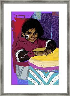 Dia De Los Muertos Child Framed Print