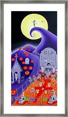 Dia De Los Muertos Jack Skellington Framed Print by Evangelina Portillo