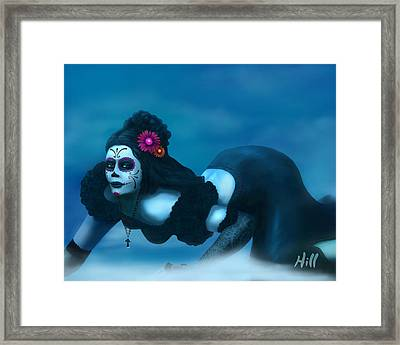 Dia De Los Muertos - Josephine Framed Print by Kevin Hill