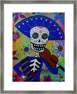 Dia De  Los Muertos Violinista Framed Print