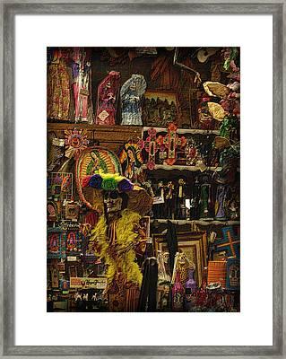 Dia De Muertos Shop Framed Print